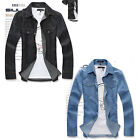 Men's Denim Jacket Denim Shirt Long-Sleeved Shirt Casual Menswear