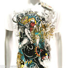 m33w Minute Mirth T-shirt Sz S M L XL Tattoo Skull Indie Lady Ghost Killer Men