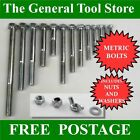 BOLTS XOX PART THREAD BOLTS WITH NUTS AND WASHERS  M12 12 MM CHOICE LENGTH  BZP