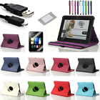 "360 Rotating PU Leather Case Stand Cover Accessory Bundles For 7"" Kindle Fire HD"
