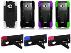 For HTC One M7 Cover Trifecta Hybrid Kickstand Double Layer Hard Soft Case