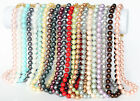 """Beautiful Genuine 10mm South Sea Round Shell Pearl Necklace 18"""" Color Optional"""