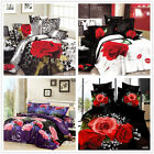 New Roses Queen Size Bed Quilt/Doona/Duvet Cover Set New 100%Cotton Free Postage