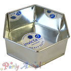 Invicta HEXAGONAL High Quality Professional Cake Tin Pans Bakeware Sugarcraft