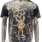 m114 Minute Mirth S M L XL T-shirt Vtg Classic Skull Pirate Graffiti Hip Hop Men