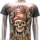 m83o Minute Mirth T-shirt Sz S M L XL Tattoo Skull Joker Demon Indie Rockabilly