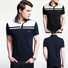 Causal Simple Short New Men's Fashion Design Casual Slim  T-Shirt 4 Size XS~L