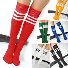 Stripe Knee High Tube Cotton Socks Sport Soccer Football Running Podium 6 Colors