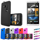 Silicone Skin Case Cover - Lcd Screen Protector For New HTC One 2013