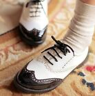 Womens Ladise Stylish Lace Up Punk Brogue Oxford Creepers Shoes Plus Size #336