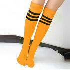 MultiColor Stripe Knee High Tube Socks Sport Soccer Football Running Calf Podium