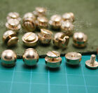 10PCS x Solid brass ball headed screw rivet for leathercraft belt bags 10mm*6mm