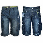 Mens Denim Shorts Seven Series Bottoms Faded Cargo Combat Sports Summer Designer