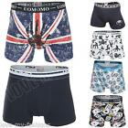 New Mens Cotton Kama Sutra Union Jack Flag Boxer Shorts Print Trunks Underwear S