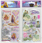 U CHOOSE  Disney PRINCESS AND FROG TIANA TANGLED RAPUNZEL puff Stickers