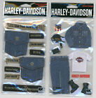 U CHOOSE  HARLEY DAVIDSON DENIM CLOTHING DENIM POCKETS 3D Stickers motorcycle