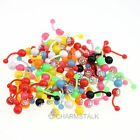 10pcs wholesale Mixed Acryl piercing Lip Bar Rings STUD body jewelry piercing