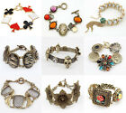 New Lot Fashion More Styles Animal Flower Colors Beads Link Metal Bracelets