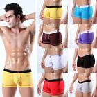 Men's Smooth Underwear Cotton Spandex Trunks Shorts Briefs Sleepwear S-L