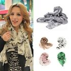 Sexy Women Ladies Gril Heads Print Scarf Shawl Wrap Stole 170*70cm 7 Colors