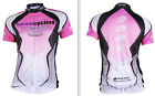 Women Outsports Cycling Jersey Top Bike Bicycle Clothing Short Sleeve Shirt Pink