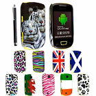 FOR SAMSUNG GALAXY MINI S5570 STYLISH PRINTED HARD SHELL CASE COVER+FREE STYLUS