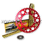 HONDA CR125 CR 125 1987 - 2003 THC CHAIN AND RED RENTHAL SPROCKET KIT