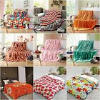 Colourful Queen Size Soft Warm Blankets Comfort Lush Thin Comforter Rug New