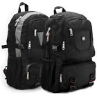Black Sport Military laptop Travel Hiking Camping Backpack Rucksack Bag men