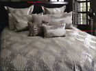 CRYSTAL Beige Textured Quilt Cover Set QUEEN KING Eurocases Cushion