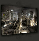 NEW YORK CITY BY NIGHT SKYLINE CANVAS PRINT POP ART MANY SIZES TO CHOOSE FROM