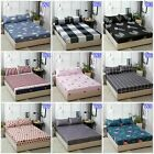 Rose Queen/King Size Bed Fitted Sheets Flat Sheet Set Cotton Bed PillowCases New