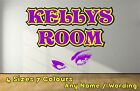 Funky Personalised Name Girls Eyes Decal Wall Sticker Girls Purple NEPU