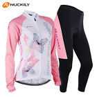 Women Bike Team Cycling Jersey Pants Set Long Sleeve Riding Jersey Trousers Kits