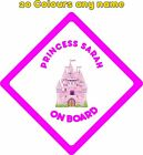 Personalised Baby on Board Car Stickers Decals Princess A685