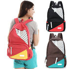 new GK Korean Girls Women Splice Canvas Travel Backpack Rucksack Shoulders Bag
