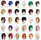 HOT Sell! 30 Colors  Popular Fashion Short Straight Cosplay wig   W.1016