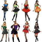 Fever Halloween Sexy Fancy Dress Costume Size 8-18 Devil Witch Vampire Light Up