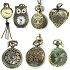 Kyпить Vintage Steampunk Retro Bronze Pocket Watch Quartz Pendant Necklace Chain Gift на еВаy.соm