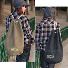 New Unisex Casual Canvas Knapsack Rucksack Backpack Sports Bucket Drawstring Bag