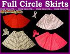 Childs 22 inch Full Circle Rock N Roll Skirt and Scarf Set Grease Outfit