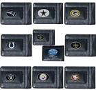 NFL Slim Money Clip Genuine Full Grain Leather Thin Wallet W Football Team Logos