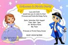 Personalised Birthday Party Invitations Princess and Pirate or Pirate & Princess