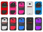 For HTC EVO 4G LTE Inex Hybrid Hard Cover Impact Silicone Case