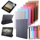 For iPad 4 New iPad 3 2 4-Fold Magnetic Leather Case Sleep Wake Hard Stand Cover