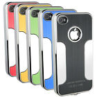 Chrome Aluminium Bumper Series Case Cover Fits Apple iPhone 4S 4
