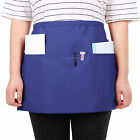 Hot Professional Short Waiters Waitress Half Bib Apron Heavy Duty 3 Pocket
