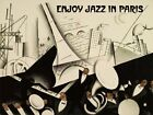 Jazz in Paris Music Festival Eiffel Tower Piano Vintage Poster Repro FREE S/H