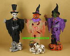 1 Glitter Resin Halloween FIGURINE With FLASHING LED LIGHT CHOOSE From 3 STYLES