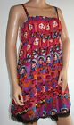 Goldstone Flowered Faces Summer Dress New UK One Size 14 - 16